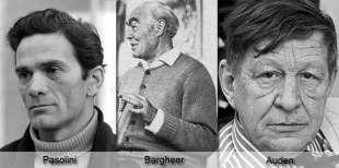 Le testimonianze di Cremonini, Bargheer, Auden e Pasolini