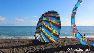 Gli artisti del vento per la prima volta sull'isola.