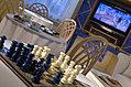 Sala Tv, con giochi da tavolo.
