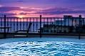 Fantastico idromassaggio al tramonto.